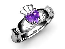 rings with amethyst images Amethyst claddagh ring 14k white gold jpg