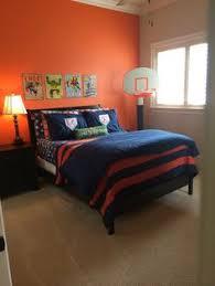 Orange And Navy Color Palette Boys Bedroom Orange Paint Color - Bedroom orange paint ideas