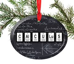 calculus periodic table of elements glass ornament