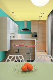 peinture couleur cuisine design interieur couleur cuisine peinture murale vert jaune