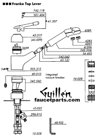 franke kitchen faucets faucet parts