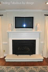 the collected interior painted brick fireplace u0026 family room