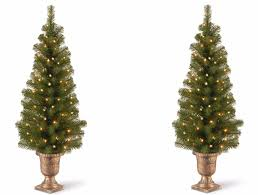tree set of 2 pre lit entryway porch fireplace indoor