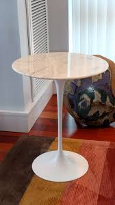 tulip side table knock off coffee table saarinen tulip side table with marble top by knoll at