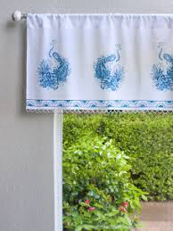 Toile Window Valances Decorative Designer Elegant Sheer Fabric Beaded Window Valance