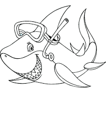 whale shark coloring pages free tiger colouring printable baby