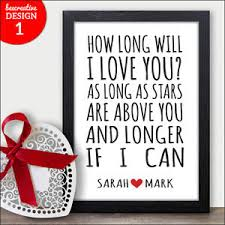 20 year wedding anniversary 20th anniversary gift personalised 20 year wedding anniversary