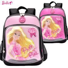 barbie cartoon children kids elementary ergonomic bag books
