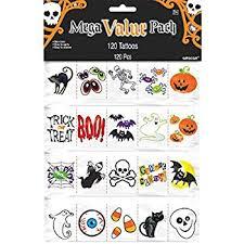 amazon com glow in the dark halloween tattoos 6 dozen bulk