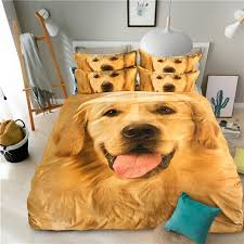 Customized Duvet Covers 3d Dog Printed Bedding Sets 100 Polyester Digital Printing Duvet