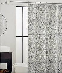 Black And White Paisley Shower Curtain - tahari fabric shower curtain roseman paisley scroll medallion spa