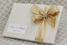 ivory wedding guest book wedding guest book ivory and gold with lace