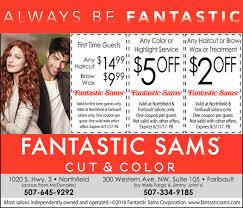 weekday specials fantastic sams cut and color northfield mn