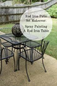 adorable outdoor patio set before u0026 after in the post house