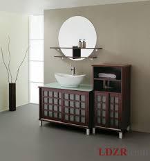 apartments stunning dark wooden bathroom storage cabinets with