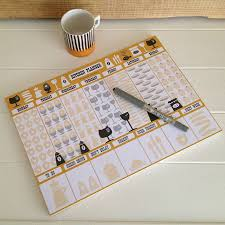 tear off weekly kitchen planner by halfpinthome
