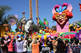 mardi gra floats six flags debuts colorful new mardi gras festival and