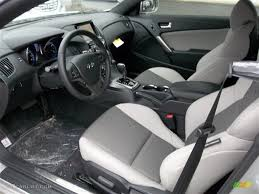 hyundai genesis coupe 2 0t premium gray leather gray cloth interior 2013 hyundai genesis coupe 2 0t
