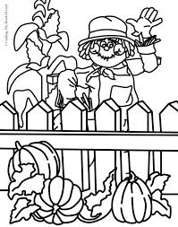 scarecrow a crafting the word of god thanksgiving coloring page 4