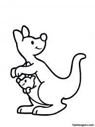printable animal kangaroo baby coloring pages printable