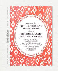 couples shower stock the bar couples shower invitations wally designs