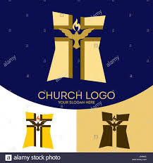 church logo christian symbols silhouette of the cross of jesus