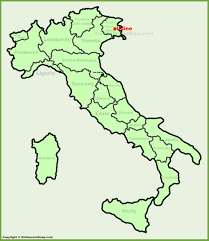 udine italy map udine location on the italy map