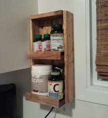 wall mounted vitamin rack rustic spice rack wall mounted