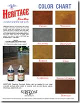 Stain Color Chart Concrete Coating Color Chart Color Chart Downloads For Surface Koatings Inc Products