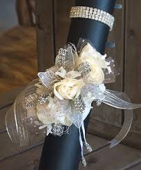 wrist corsage white and silver wrist corsage in stoneham ma evergreen florist
