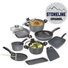 batterie de cuisine en stoneline stoneline set de 10 pièces en faitout achat vente