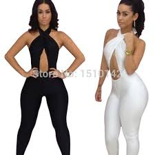 all white womens jumpsuit jumpsuit 2015 backless halter hollow jumpsuits all