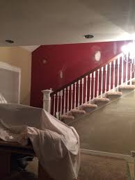 need help with staircase accent wall color