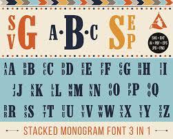 stacked monogram stacked monogram font svg stacked monogram svg stacked alphabet
