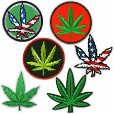 Pot Flag Marijuana Leaf Pot Weed Leaf Usa Flag Hippie Ganja Embroidered
