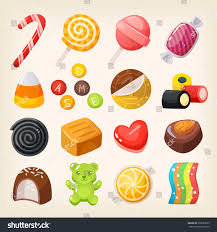 popular set top popular sweet desserts halloween stock vector 578953825