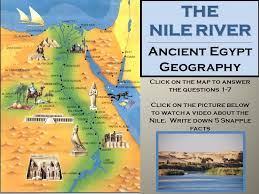 nile river on map ancient ppt