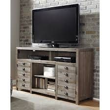 Ashley Furniture Distribution Center Houston Tx Ashley Furniture Keeblen Tv Stand With Fireplace Option In Grayish