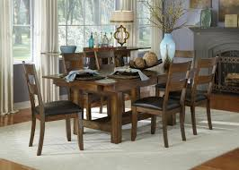 40 X 40 Dining Table Aamerica Mariposa 7 Piece Trestle Table And Ladderback Chairs Set