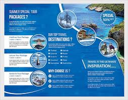 travel and tourism brochure templates free sle brochure for tour package travel brochure template 24 free