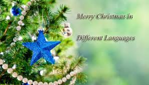 happy merry christmas languages