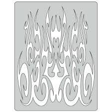 flame o rama 2 gothika airbrush template fh for 10 32 75