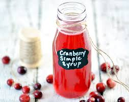 easy cranberry simple syrup