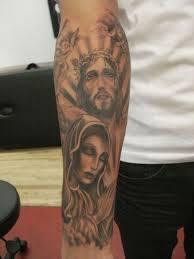 virgin mary n jesus tattoo on chest photo 3 2017 real photo