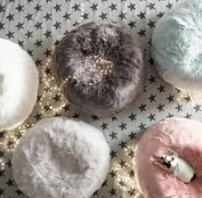 kashmir faux fur bean bag white