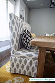dining room decor update bench chairs pillows the sunny side
