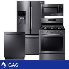 samsung 4 piece gas 25cuft 3 door french door kitchen suite in