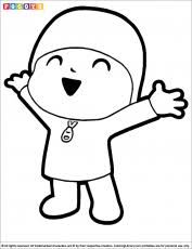 pocoyo coloring pages coloring library coloring
