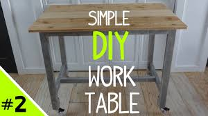 Building A Wooden Desk Top by Build A Simple Diy Work Table Top 2 Of 2 Youtube