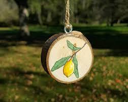 lemon ornaments etsy